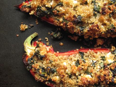 Stuffed ramiro peppers